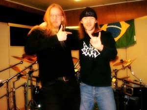 Jari e Kai no estúdio